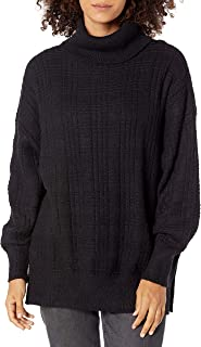 Lucky Brand Women's Long Sleeve Turtleneck Textured Stitch Sweater