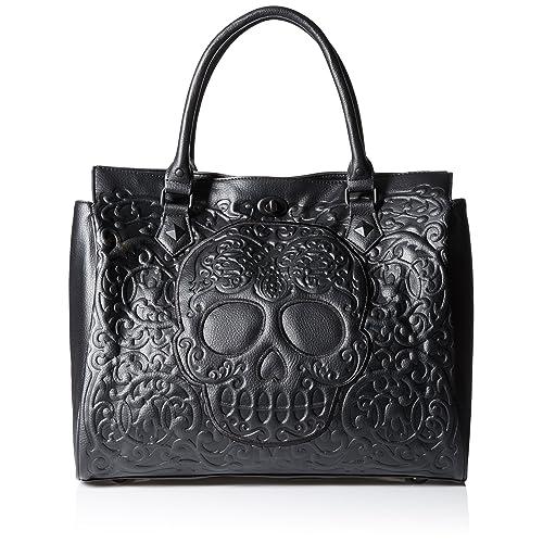 dd78296b8457 Loungefly Lattice Skull Tote Shoulder Bag