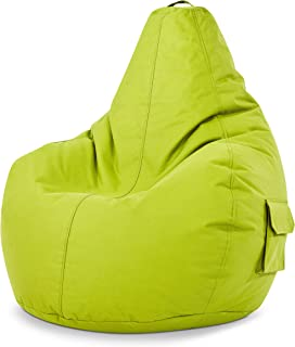 Green Bean © Cozy Beanbag, gaming-zitzak, 80 x 70 x 90 cm, vulling van 230 liter, vulling van EPS parels, indoor gamingsto...