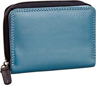 RB53 Multi Colored Small Bifold Soft Leather Ladies Wallet & Purse