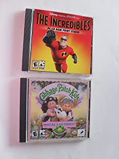 The Incredibles PC-CD ROM Print Studio and Cabbage Patch Kids Where's My Pony? (2 discs)