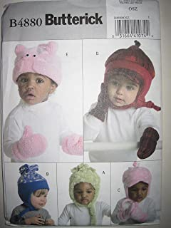Butterick Pattern 4880 Infants'/Toddlers' Hats and Mittens