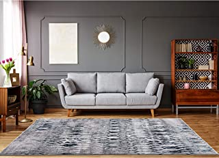 Grey Blue Area Rugs 8 x 10 by LOOM&WEAVE for Living Room, Bedroom, Dining Room, Kitchen and Kids Playroom - Instantly Transform Your Modern, Farmhouse, Shabby Chic or Bohemian Home Décor (MOR)