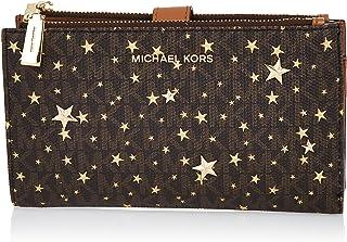 Michael Kors Double Zip Wristlet - Brown/Gold