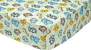 Trend Lab Chibi Zoo Crib Sheet, Sage