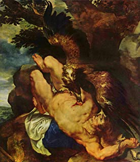 Home Comforts Rubens, Peter Paul - Prometheus Bound Vivid Imagery Laminated Poster Print 11 x 17