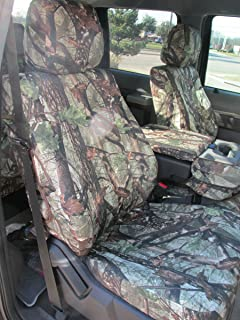 Durafit Seat Covers, F486-DS1 Camo, 2014 Ford F150 or 2015 F250-F550, XLT and Lariat 40/20/40 Split Seat with Opening Center Console in DS1 Camo Endura Fabric