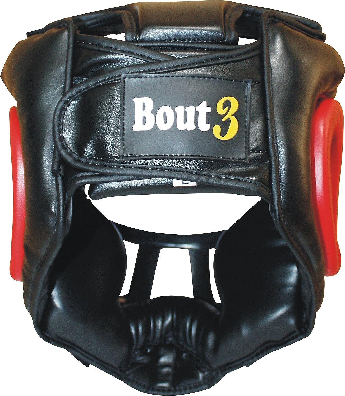 Bout3/® Boxen Kopfschutz Helm f/ür Kampfsport Muay Thai Kickboxen Sparring Muay Thai Boxen Taekwondo Boxtraining Boxsack MMA Gesichtsschutz Boxhelm mit Gitter Rot, L