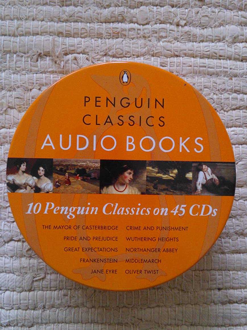 10 Penguin Classics on 45 CDs (The Mayor of Casterbridge, Pride & Prejudice, Great Expectations, Frankenstein, Jane Eyre, Crime & Punishment, Wuthering Heights, Northanger Abbey, Middlemarch, Oliver Twist)