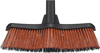 Fiskars Bezem, bezemkop met PowerClean-borstel, breedte: 37,5 cm, kunststof, zwart, Solid, M, 1025930
