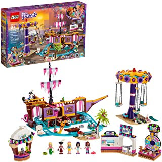 LEGO Friends Heartlake City Amusement Pier 41375 Toy Rollercoaster Building Kit with Mini Dolls and Toy Dolphin, Build and...