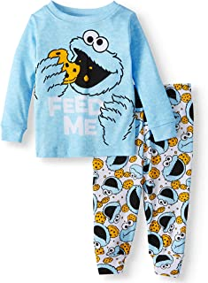 Sesame Street Cookie Monster Baby Boys Cotton Pajama Set