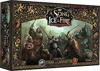 CoolMiniOrNot CMNSIF001 Thrones Stark vs Lannister Starter Set: A Song of Ice and Fire Miniatures Game Core Box, Mixed Colors