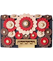 ZAC Zac Posen - Earthette Card Case with Chain - Broque Floral Applique