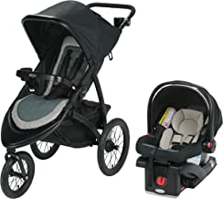 Graco Roadmaster Jogger Travel System | Includes Roadmaster Jogging Stroller and SnugRide SnugLock 30 Infant Car Seat, Koda