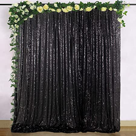 4Ftx6 Ft Photography Black PartyDelight Sequin Backdrop