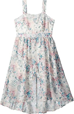 Us Angels Floral Crepe Chiffon Dress (Big Kids)