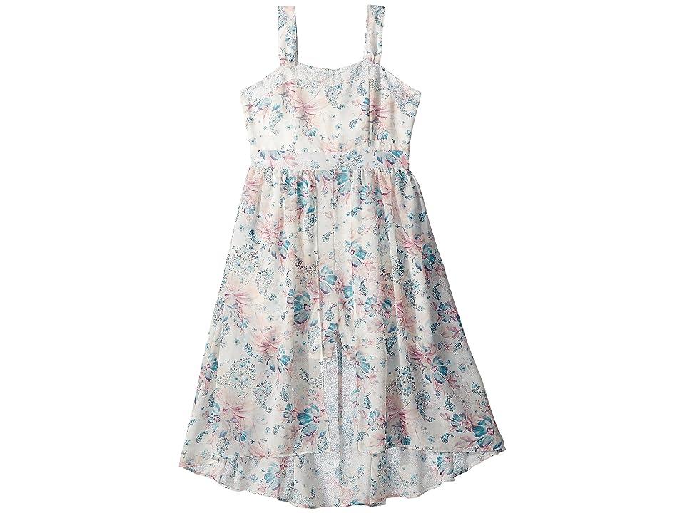Us Angels Floral Crepe Chiffon Dress (Big Kids) (Multi) Girl