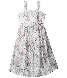 Floral Crepe Chiffon Dress (Big Kids)