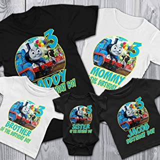 Family Personalize Thomas The Train Birthday T-Shirts