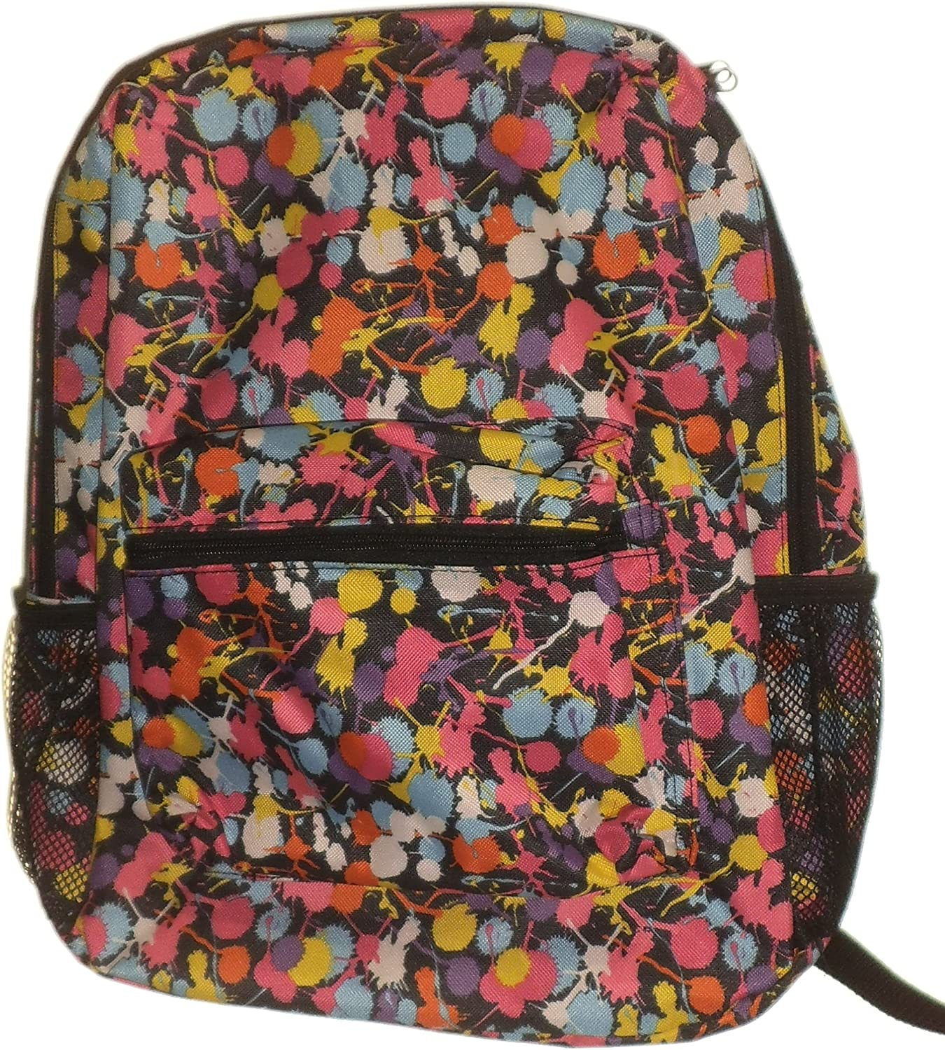Paint Splatter School Backpack Back Pack Book Bag