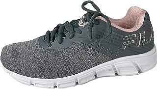 Primeforcer Womens Memory Foam Grey/Pink Training Sneakers