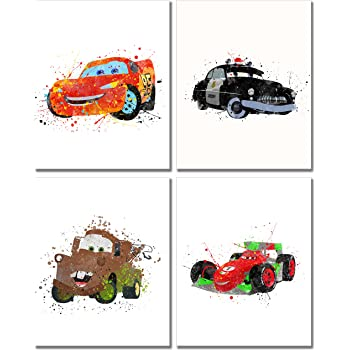 Amazon Com Cars Movie Poster Prints Set Of 9 8 Inches X 10