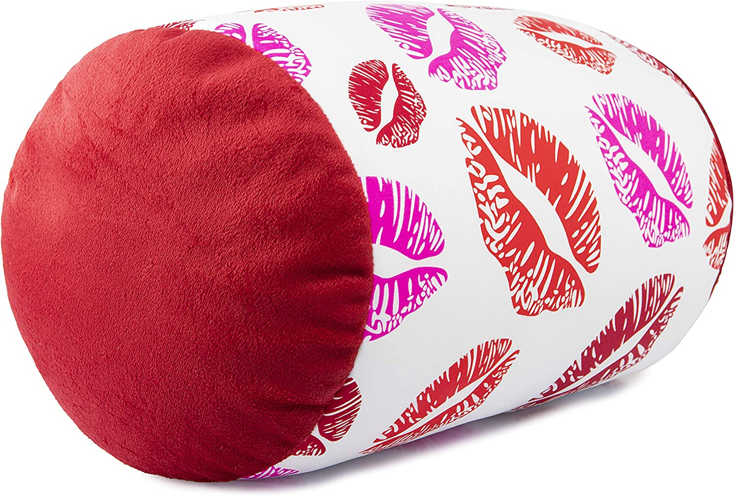 Deluxe Comfort Mbr Lip Kis Mooshi Squish Microbead Bed Pillow Pattern Kisses Home Kitchen