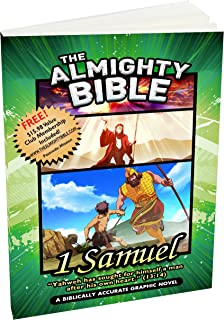 Almighty Bible Book of 1st Samuel Biblically Accurate Graphic Bible, Biblically Accurate Graphic Bible Stories with verses Word for Word, paperback.