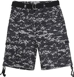 Ma Croix Mens Premium Twill Cargo Shorts with Belt Heavy-Duty Multi Utility Pocket Big and Tall