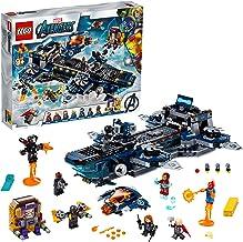 Super Heroes Clas AvengersHelitransporte de los VengadoresJugueteconIronMan,Thory laCapitanaMarvel,Serie, multicolor (Lego ES 76153)