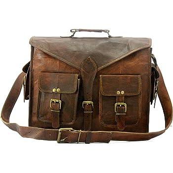 "Handmade/_World Leather Messenger Bags for Men Women 18/"" Men Briefcase Laptop Bag"
