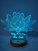 DESIGN ELLE - 3D Illusion LED lamp -16 Colour Changing for Decoration and Gifting (Multicolour) 197