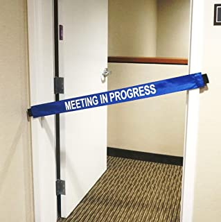 Meeting in Progress Sign with Magnetic Ends