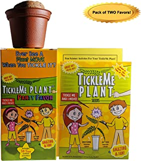 TickleMe Plant (2) or Birthday Party Favors (Leaves fold up When You Tickle It) Minutes Later The Leaves Re-Open. Great Stocking Stuffer