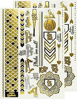 MLB Metallic body Jewelry, 2 Full Sheets, White
