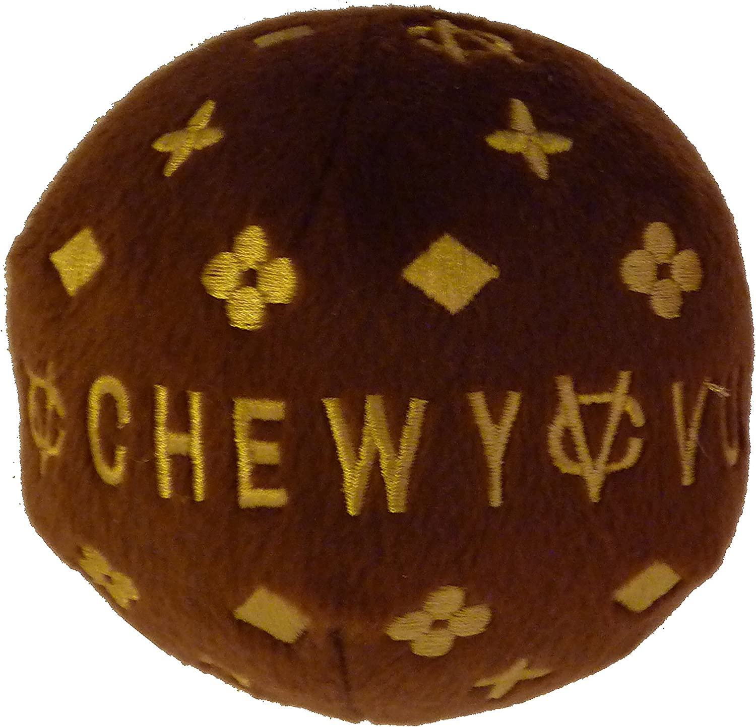 Chewy Vuiton Plush Ball Toy for Dogs (Large)