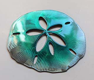 Sand Dollar Tropical Metal Wall Art Accent Teal Tainted