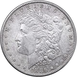 1886 P Morgan Dollar $1 About Uncirculated