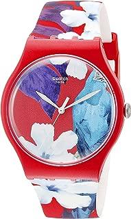 Swatch Unisex SUOR105 Look Through Analog Display Quartz Red Watch