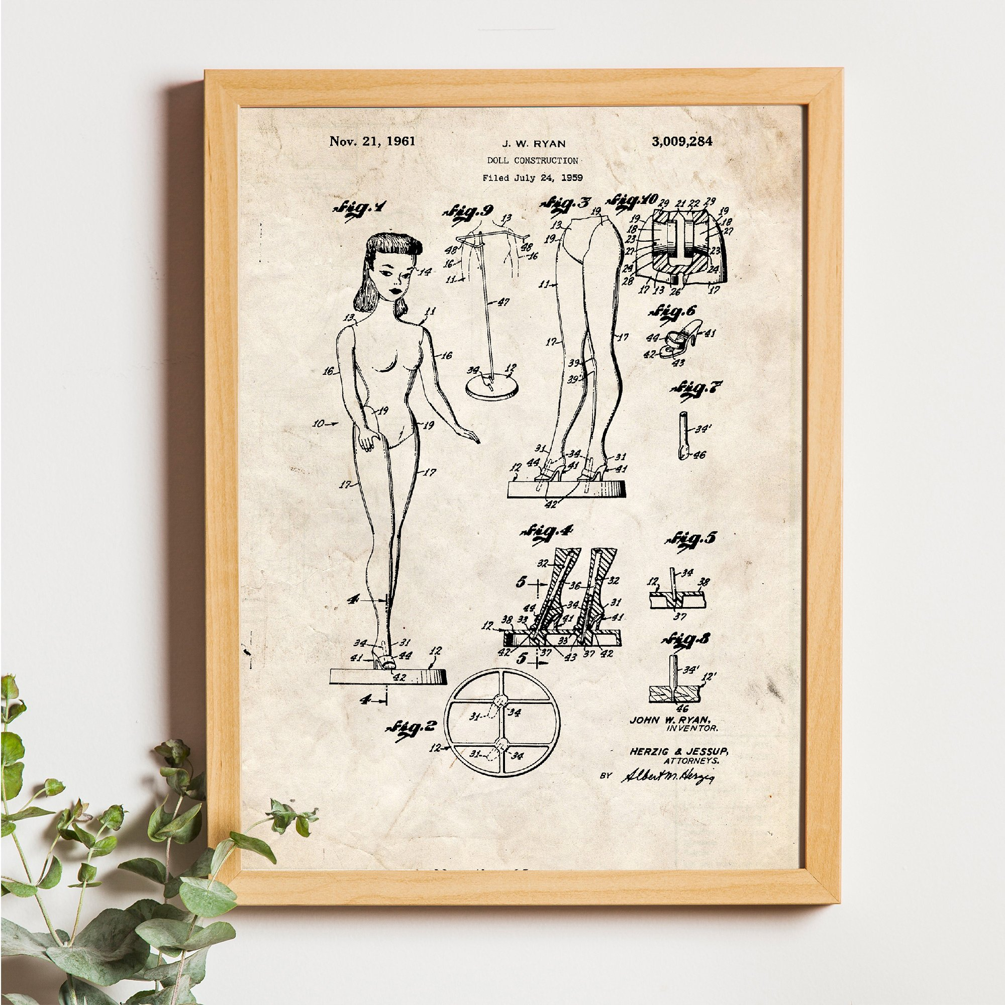 Nacnic Vintage - Pack de 4 láminas con Patentes de Juguetes ...
