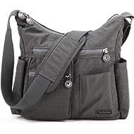 Crossbody Bag for Women Shoulder Travel Purse Nylon Messenger Satchel Lightweight Handbag With...