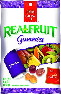 Dare REALFRUIT Gummies Tropical Fruits – Naturally Flavored Candies made with Real Fruit and No Artificial Colors or Flavo...
