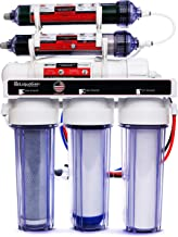LiquaGen Portable - 6 Stage Dual Use (Drinking & 0 PPM Aquarium Reef/Deionization) Reverse Osmosis Water System (RO/DI) w/pH Alkaline Mineral Restoration Filter