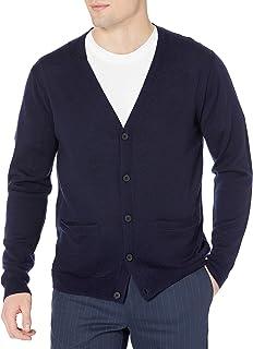 Amazon Brand - Goodthreads Men's Lightweight Merino Wool Cardigan Sweater