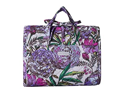 Vera Bradley Iconic Compact Hanging Organizer (Lavender Meadow) Travel Pouch