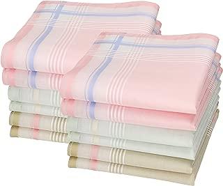 BETZ 12 Pièce Femmes Tissu Mouchoirs Set Paloma 2 30x30 cm 100/% coton