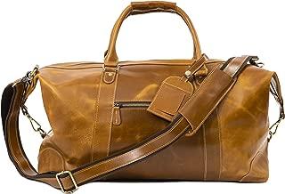 Genuine Leather Travel Duffel   Oversized Weekend Luggage I Buffalo Leather Bag For Men / Women I Sports Gym Overnight Carry-On Bag I Great Gift Idea