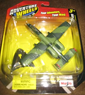 Adventure Wheels Tailwinds A-10A Thunderbolt II, Airplane, Land-Sea-Air by Maisto