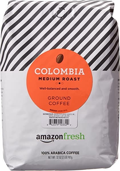 AmazonFresh Colombia Ground Coffee Medium Roast 32 Ounce